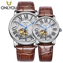 цены ONLYOU Women mechanical Watches  Fashion Leisure Ultra Thin Steel Full steel sapphire trend Lovers Watch  6961G/L