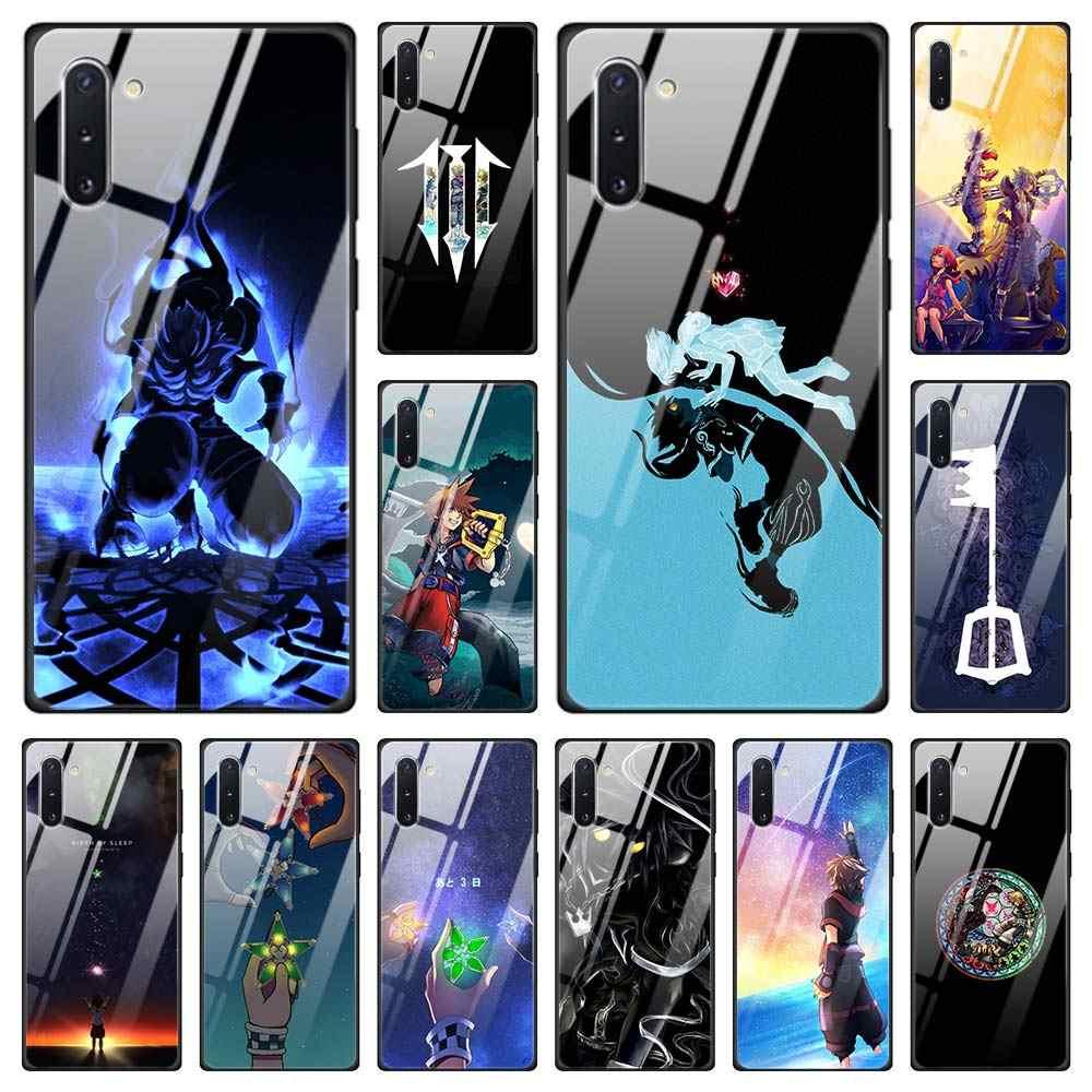 Kingdom Hearts temperli cam samsung kılıfı Galaxy S10 S20 Ultra S8 S9 artı S10e not 8 9 10 artı S10 5G kapak çapa