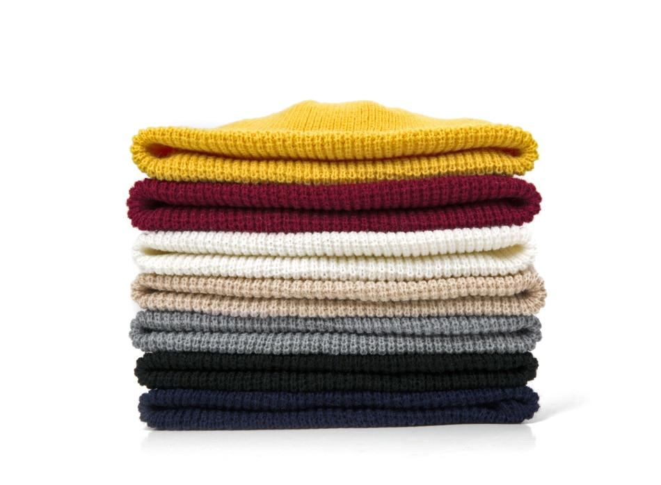 2019 Fashion Unisex Winter Hat Men Cuffed Cib Knit Hat Short Melon Ski Beanies Autumn Winter Solid Color Casual Beanie Hat 42