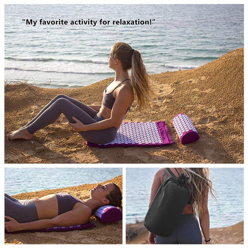 Acupressure Massage Mat or Yoga Mat with pillow set to release Body Pain for Fitness and health 4