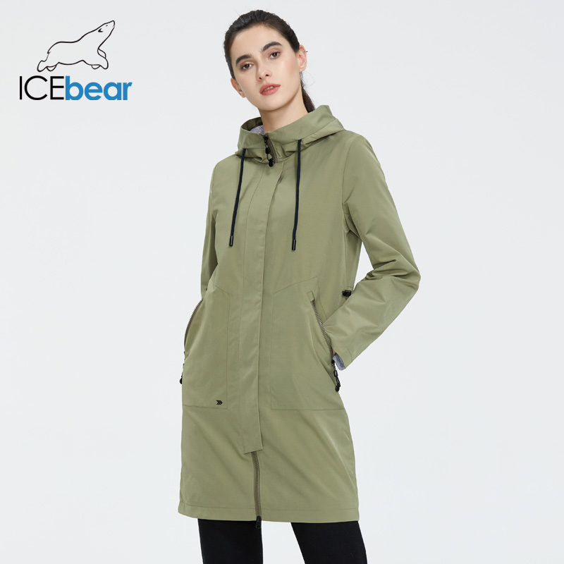 ICEbear 2020 Women spring windbreaker women long clothes with a hood high-quality brand clothing GWF20002I(China)