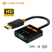 3d-Adapter Display-Port CABLETIME Convertor Camera Macbook Male-To-Female To Vga