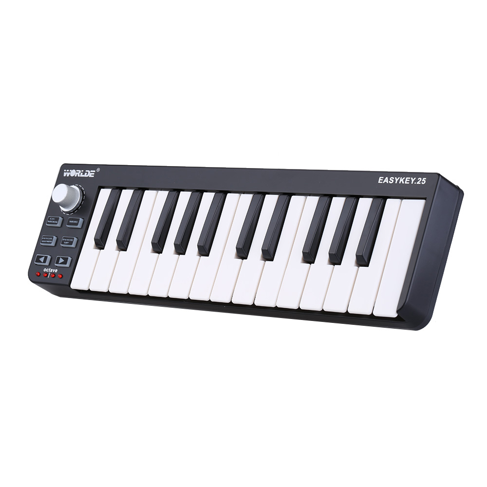 Easykey.25 Portable Keyboard Mini 25-Key USB MIDI Controller Free Shipping
