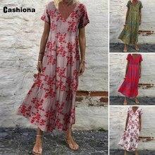 Vintage 2021 Summer Bohemian Skirt Dress Retro 3D Print Dresses Plus size Women