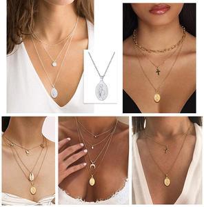 Image 5 - Breloques en argent Sterling 925, colliers avec pendentifs vierges de Mary, bijoux religieux chrétiens, chaîne croisée à la mode, pour femmes et hommes, SC118