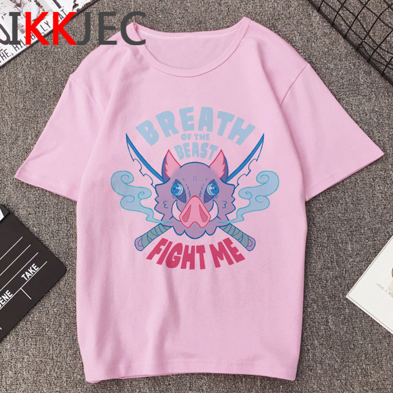 New Hot Demon Slayer Funny Cartoon T Shirt Men Cool Kimetsu No Yaiba T-shirt Fashion Japanese Anime Tshirt Hip Hop Top Tees Male