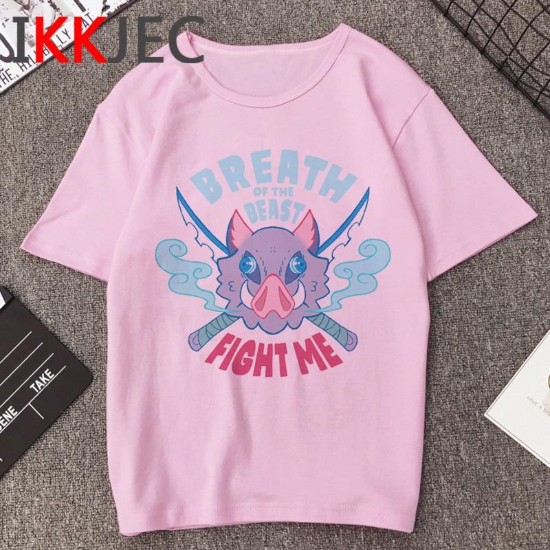 New Hot Demon Slayer Funny Cartoon T Shirt Men Cool Kimetsu No Yaiba T-shirt Fashion Japanese Anime Tshirt Hip Hop Top Tees Male