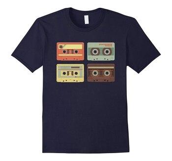 Cassette Tapes Music Mixtape Vintage Retro 80s Tech T-Shirt Summer Fashion Men's Short Sleeve T-Shirt