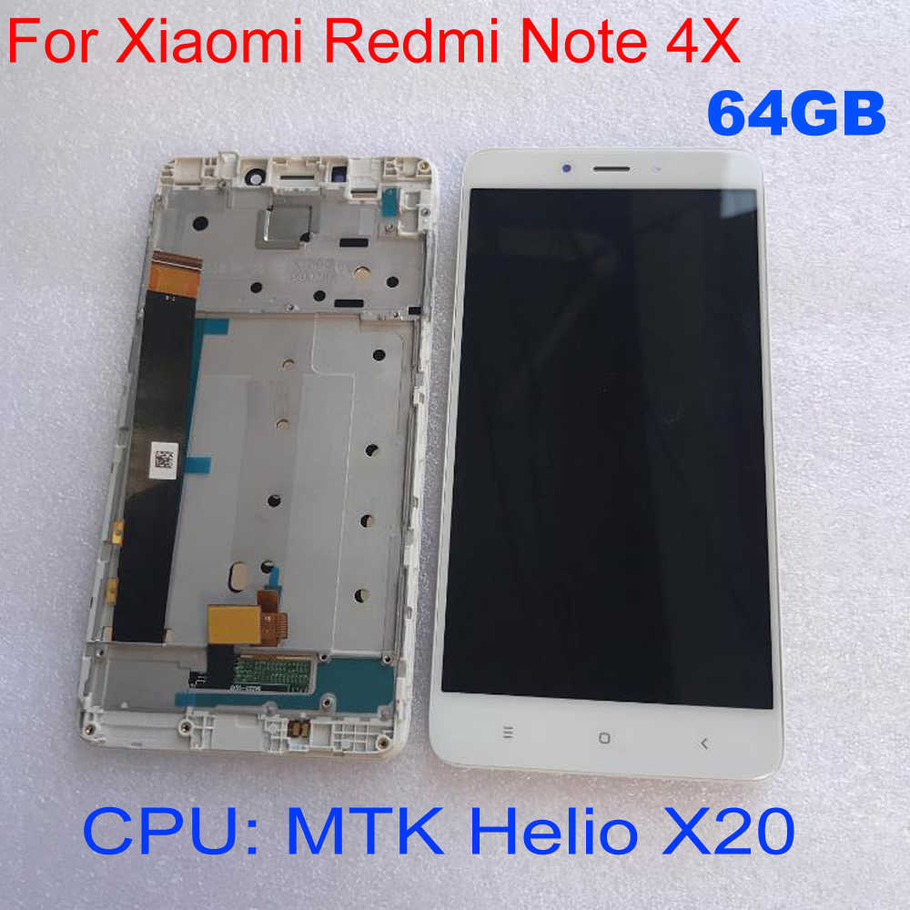 Good Work LCD Display Panel Touch Screen Digitizer Assembly with frame For Xiaomi Redmi Note 4X 4GB 64GB MTK Helio X20 Phone