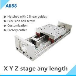 HGR20 خطي دليل المرحلة السكك الحديدية الحركة الشريحة الجدول SFU1605 بالولب نيما 23 وحدة المحرك لأجزاء طابعة ثلاثية الأبعاد XYZ ذراع آلي عدة