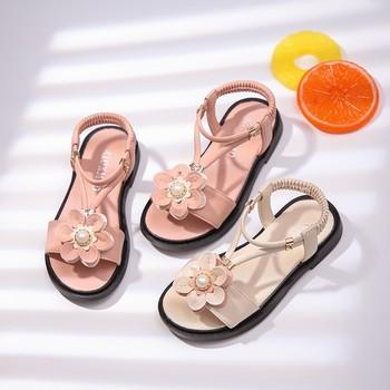 7-12 modne sandały dziewczęce 2020 letnie nowe dziecięce buty koreańskie modne buty małe dziewczynki buty modne buty na plażę tanie i dobre opinie 7-12y 12 + y CN (pochodzenie) Lato Kobiet Płaskie Obcasy Pasek klamra Pasuje prawda na wymiar weź swój normalny rozmiar