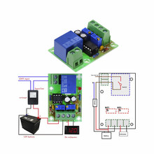 Placa de Controle de Carga Da Bateria XH-M601 12V Carregador da fonte de Alimentação do Painel do Módulo De Controle Inteligente de Carregamento Automático/Interruptor de Paragem