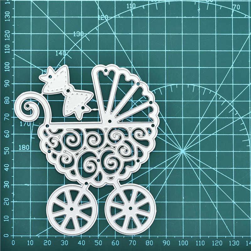YaMinSanNiO çiçek bebek arabası kesme ölür Scrapbooking yeni 2019 çerçeve Metal kesme ölür kart yapımı kabartma şablon dekor
