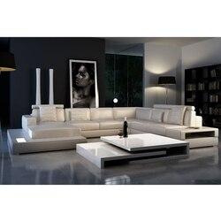 Итальянский дизайн натуральная кожа Мебель для гостиной, угловой диван