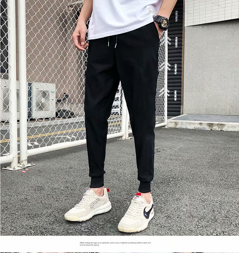 MEN'S Sports Pants Winter Brushed And Thick Cotton-padded Trousers Outer Wear Loose Straight Warm Casual Pants Berber Fleece Swe