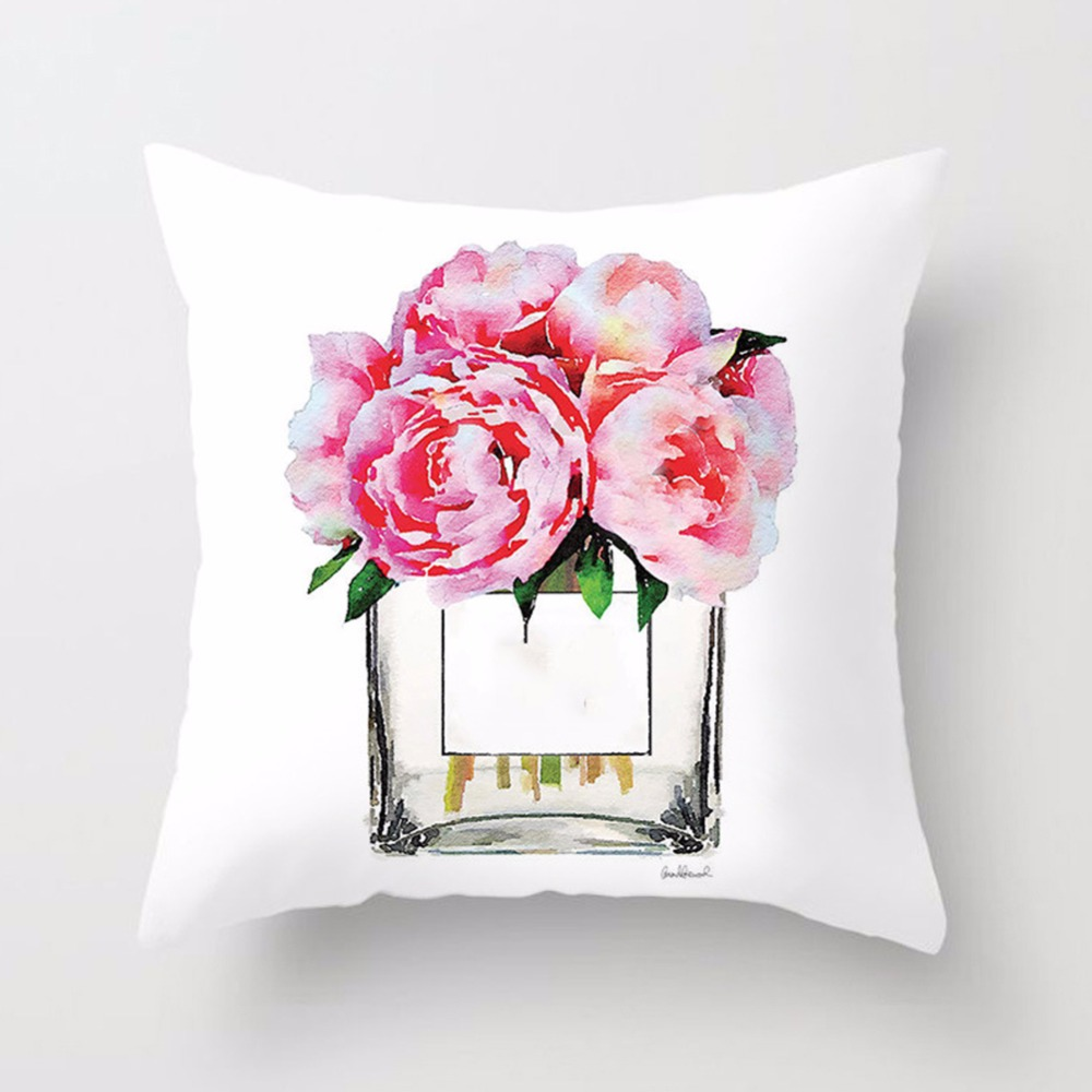 New-Printed-Flower-Pillow-Case-Cover-Square-45cm-45cm-Polyester-Pillowcase-Seat-Cushion-Case-Cover-Home(6)