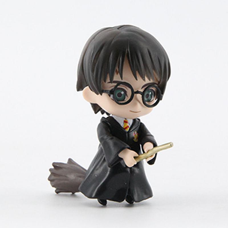 Image 5 - 6pcs/set 8 10cm  Movie Harri Ron Hemione Action Figures Doll Magician Potters Cake Decoration ToyAction & Toy Figures   -