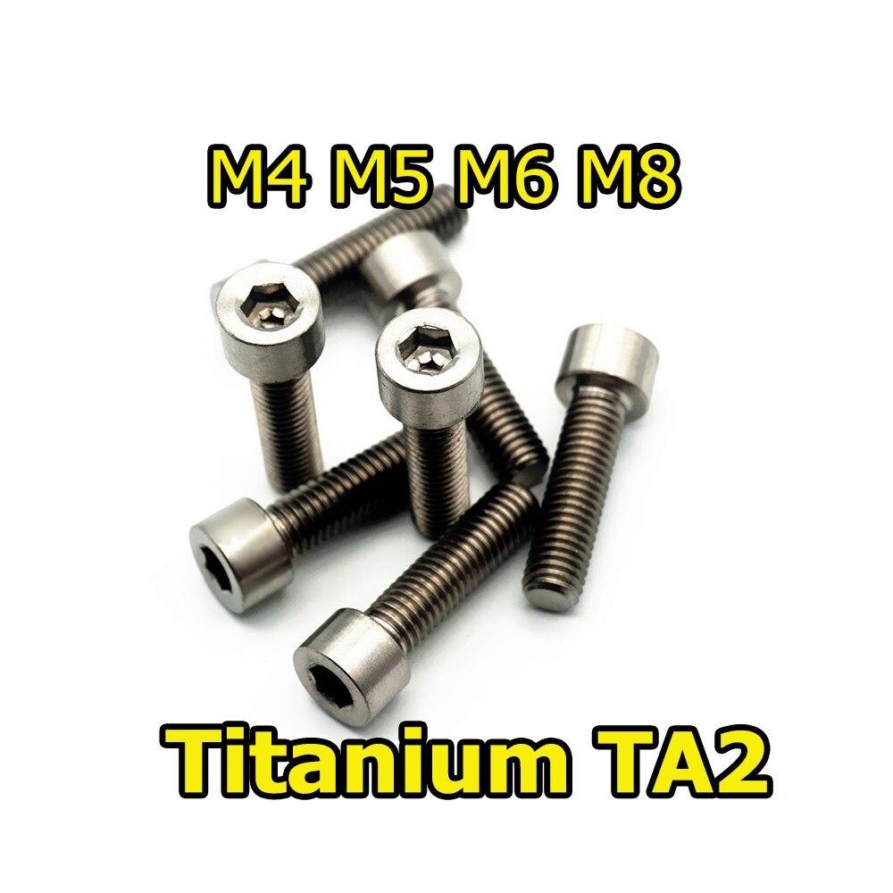 10Pcs M6//M8 x10-40mm Bike Titanium Countersunk Soket Head Cap Screws Allen Bolts