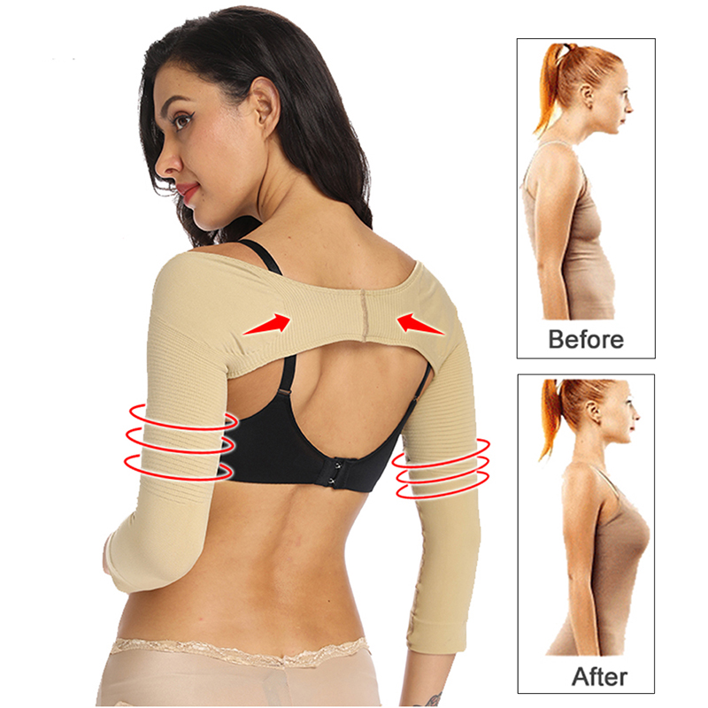 Women Arm Shaper Back Shoulder Corrector Humpback Posture Corrector Arm Control Shapewear Arm Compression Slimming Underwear Top