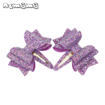 2Pcs/lot New Glitter Hair Bows Clips for Girls Multi-layered Sequin Bowknot Hairpin Girls Hair Accessories Barrettes for Kids цена 2017