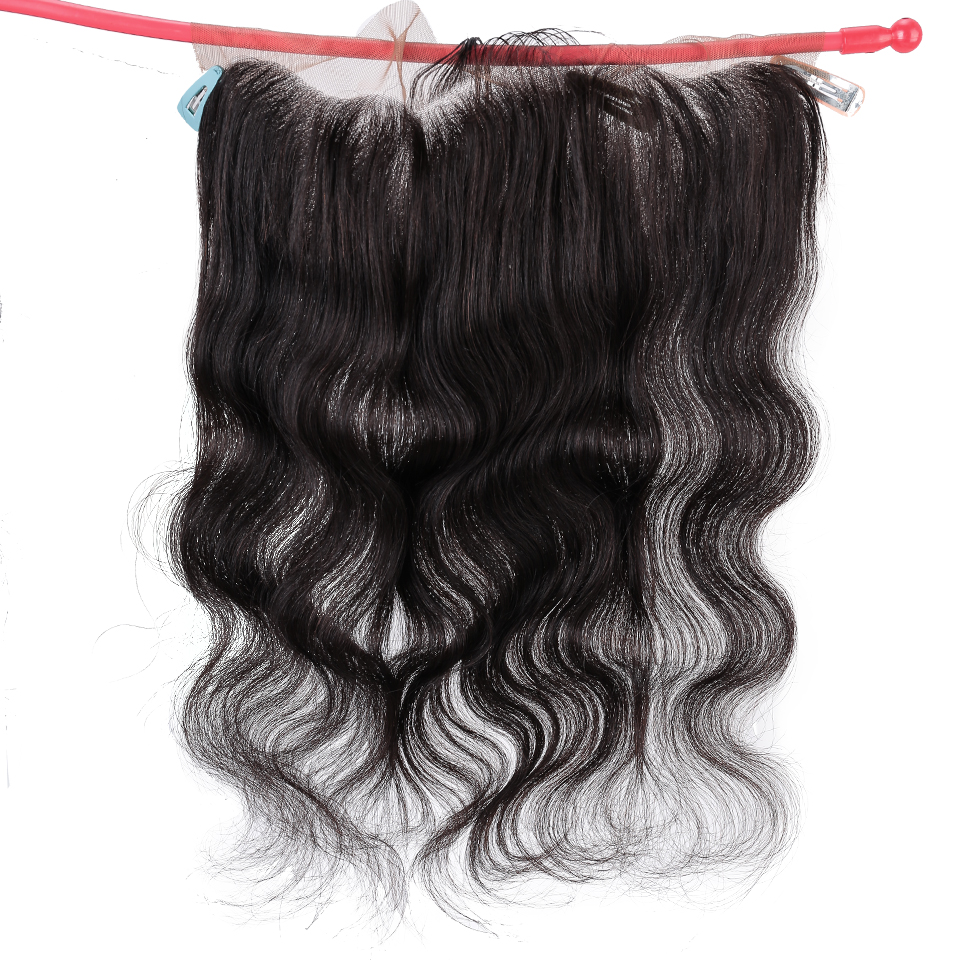 Salonchat Brazilian Body Wave Lace Frontal HD Swiss Lace Frontal Human Hair Remy Hair Transparent Lace Frontal Closure 13*4