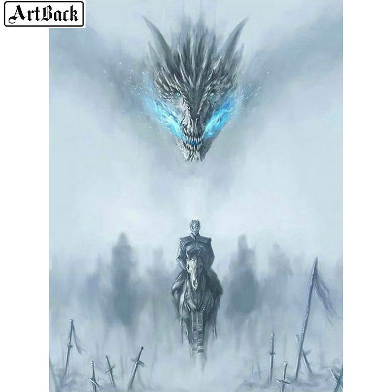 5d diamond painting dragon movie warrior diy 3d diamond mosaic landscape icon crafts diamond embroidery decorative sticker image