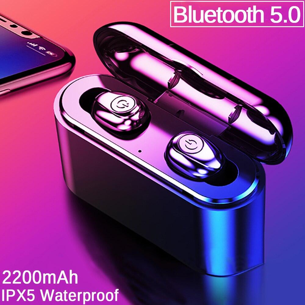 X8 TWS Bluetooth True Drahtlose Ohrhörer Bluetooth Kopfhörer Mini TWS Wasserdichte Headfrees mit 2200mAh Power Bank Für Alle Telefon