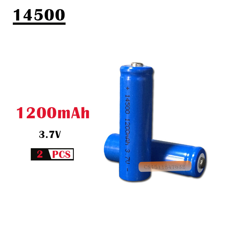 2 sztuk/partia EastFire AA 14500 1200mah 3.7 V akumulatory litowo-jonowe i latarka LED, darmowa dostawa