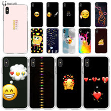 LJHYDFCNB emoji smile TPU Soft Phone Case for iPhone 11 pro XS MAX 8 7 6 6S Plus X 5 5S SE XR cover(China)