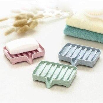 Soporte portátil para jabonera, contenedor para Barra de ducha, accesorios de viaje para el hogar, bandeja de jabón, soporte para plato