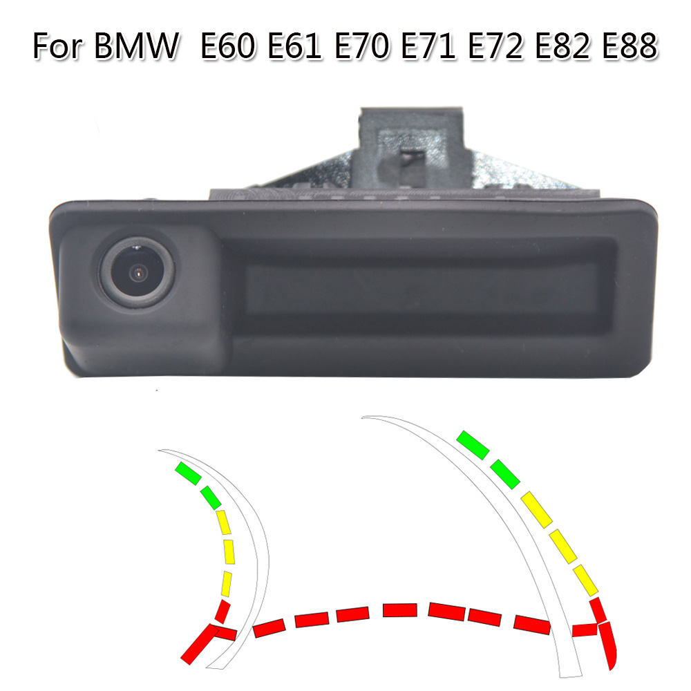HD Dynamic Trajectory Trunk Handle Car Rear View Camera For BMW E60 E61 E70 E71 E72 E82 E88 E84 E90 E91 E92 E93 X1 X5