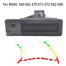 HD dinâmico trajetória trunk handle car câmara de visão traseira para BMW E60 E61 E70 E71 E72 E82 E88 E84 E90 E91 E92 E93 X1 X5