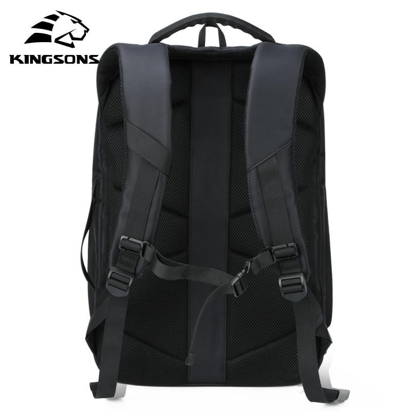 Kingsons 15 17 sac à dos pour ordinateur portable externe USB Charge ordinateur sacs à dos antivol sacs imperméables pour hommes femmes grande capacité - 3