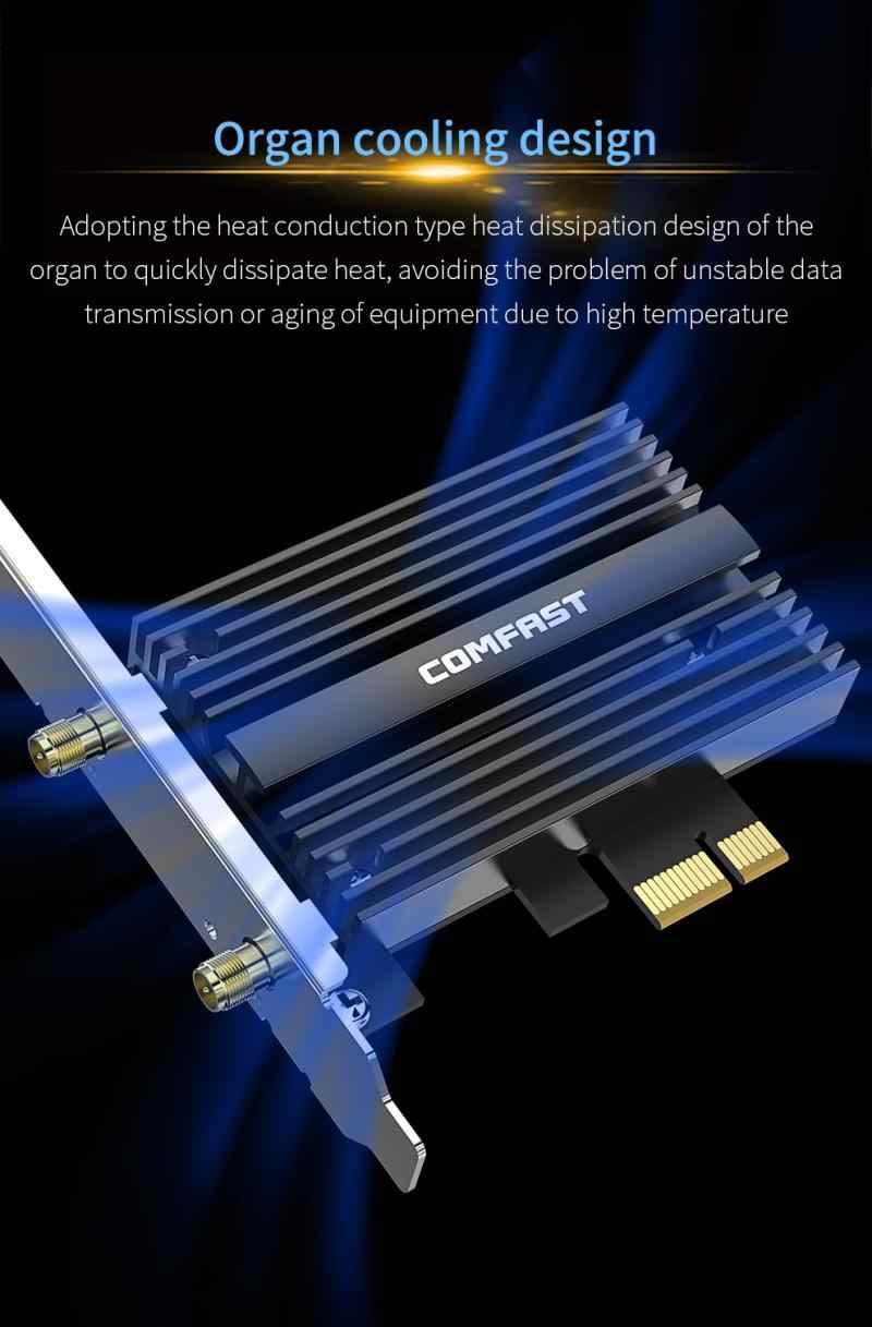 WiFi 6 dwuzakresowy 3000 mb/s Intel AX200 PRO bezprzewodowy PCIE Bluetooth 5.0 karta sieciowa wi-fi AX200NGW 2.4G/5G 802.11 AX do gier gry