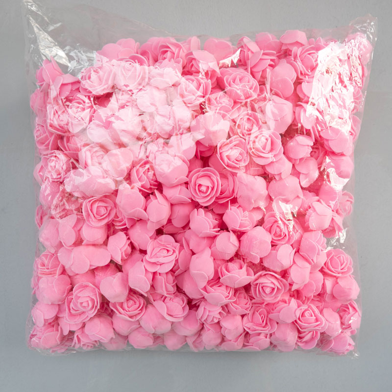 Foam Roses 500pcs 3.5cm Artificial Foam Flower Heads DIY 20cm Teddy Bear Mold PE Rose Bear Accessories Decor Valentine's Gift