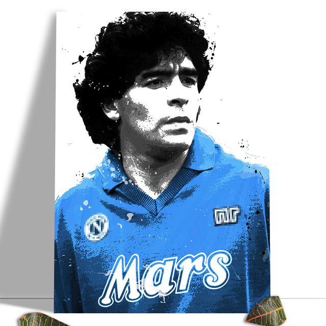 Diego Maradona Football Poster Canvas Comics Printed sports Decoration Painting Home Wall Living Study Room Child Room Bedroom 23