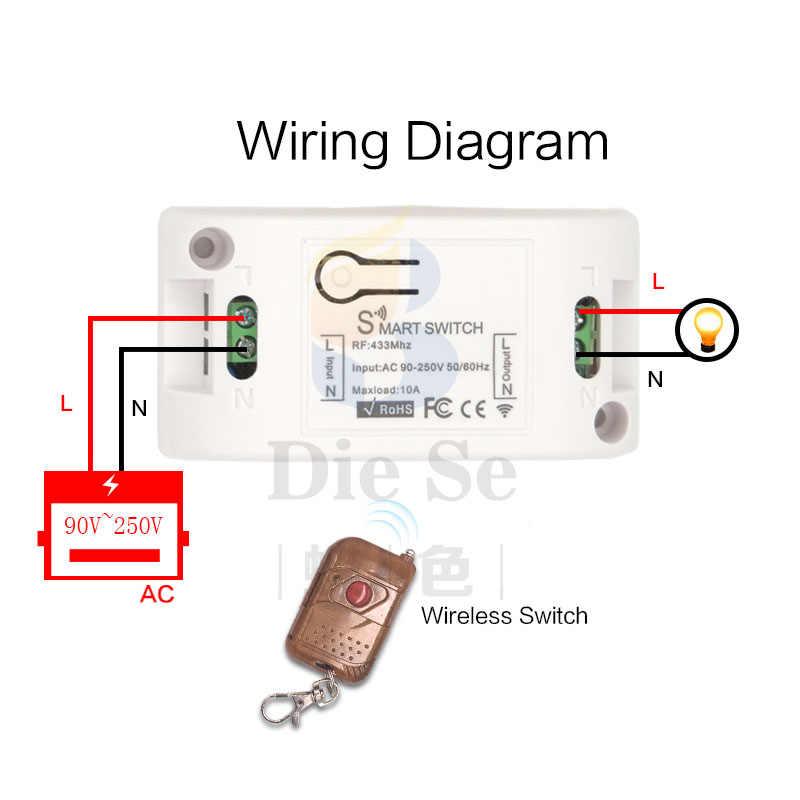 433 433mhz のユニバーサルワイヤレスリモコン LED スイッチ AC220V 1CH RF リレー受信機とトランスミッタ電球とドアオープナー