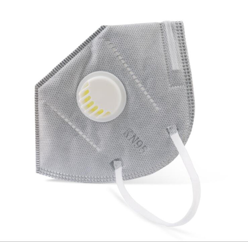 1pcs KN95 Face Mask Respiratory Protection For Black Mouth Face Mask PN2.5 Non-woven With Breathing Valve As FFP 1 2 3 KF94