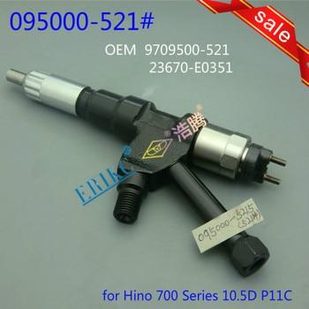 ERIKC 23670-E0351 Common Rail de Injeção de Combustível 095000-5211 (23910-1252) auto Peças de Motor Bico Injetor 5211 para Hino 700 Series