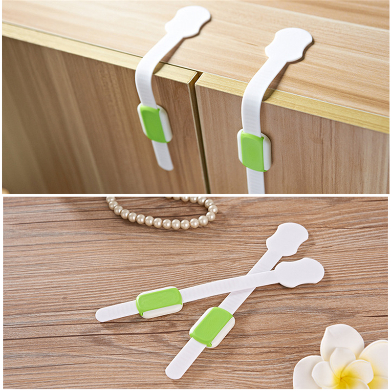 Drawer Door Cabinet Cupboard Toilet Safety Locks Baby Kids Safety Care Plastic Locks Straps Infant Baby Protection