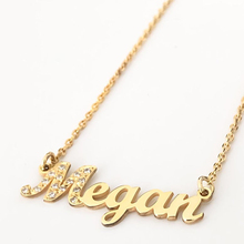 HIYONG Signature Custom Necklace Gold Color Personalized Handwriting Necklaces For Gift Nameplate Pendant Choker Zirconia hiyong custom crown name necklace personalized silver rose gold chain nameplate choker christmas gift necklaces jewelry