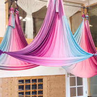 6 Meter Aerial Yoga Hammock Faric High Quality Gradational Colors Aerial Silks Low Stretch Anti Gravity Yoga Equipment FITNESS
