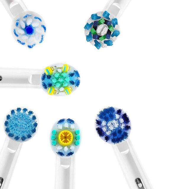 Têtes de brosse à dents électrique, accessoire Oral B, 12/16 pièces/paquet de brosse à dents électrique rotative remplaçable pour nettoyage dentaire
