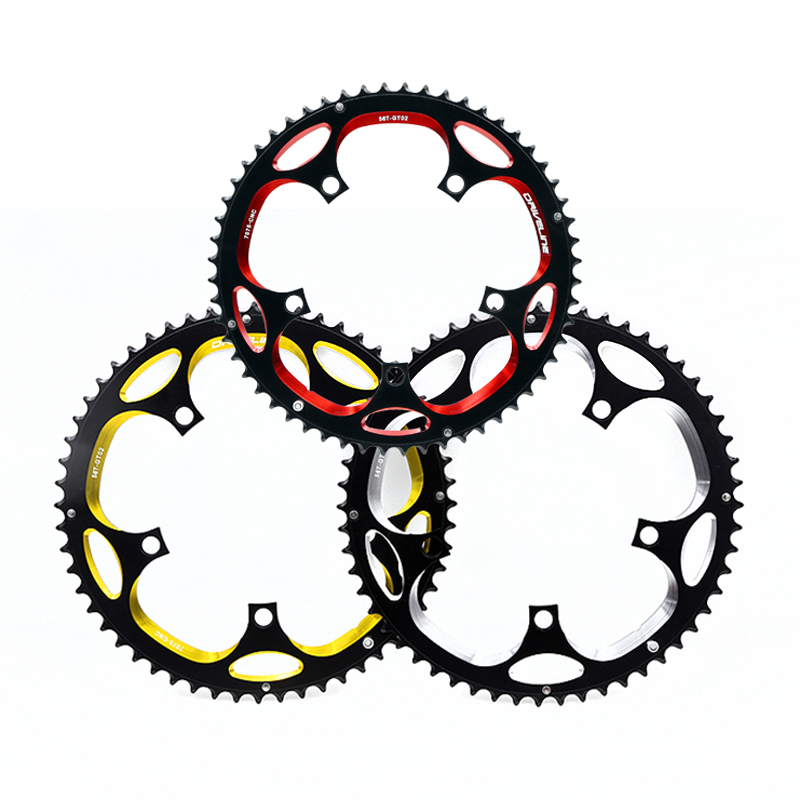 DRIVELINE 7075 aluminum CNC 53/56T road chainring / crankset chainrings / tooth disc / dental plate black with red color