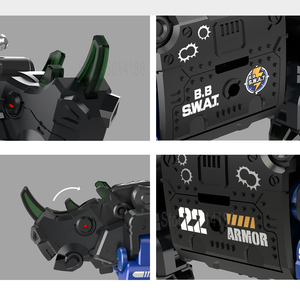 Image 4 - XIAOMI MIJIA 52TOYS Beast Series Plan  Blue armor special police model Toy action figure Deform Robot 5cm Cube Childrens Gift