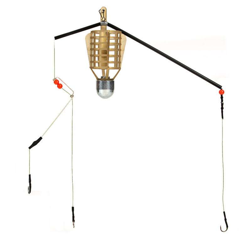 20G 30G 40G 50G Fish King Fishing Lure Cage With Line Hooks  Fish Bait Feeder Basket Holder Fishing Accessories