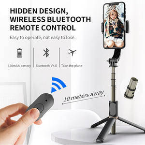 Image 3 - Auto Draaibare Bluetooth Handheld Gimbal Stabilizer Mobiele Telefoon Selfie Stok Houder Verstelbare Statief Stand Voor Iphone/Huawei