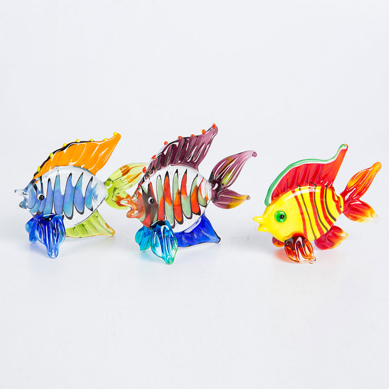 Colorful Crystal Glass Clown Fish Animal Figurines Miniature Hand Blown Modern Miniatures Home Decor Accessorie Christmas Gift|Figurines & Miniatures| |  - title=