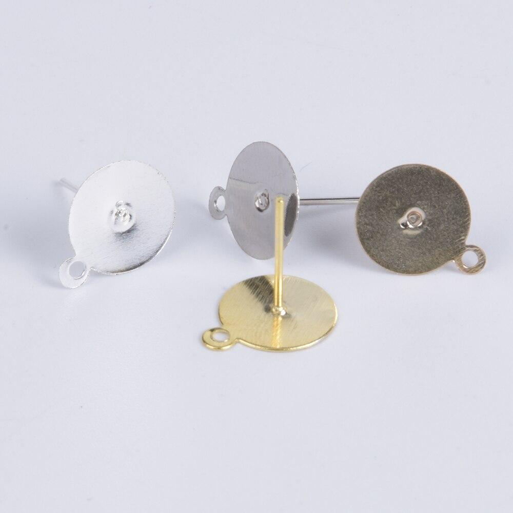 Пустая основа для сережек-гвоздиков с кабошоном, аксессуары для бижутерии, принадлежности для изготовления сережек-гвоздиков, шт./лот, 100