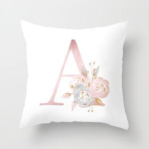 Image 3 - ローズゴールドピンク英字クッションカバーバレンタインの日ギフト用kissen装飾スロー枕車のソファホーム